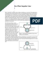 Offshore Orifice-Plate Impulse Line Arrangement