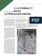 Efecto de la vitamina E  y el selenio en la producción porcina