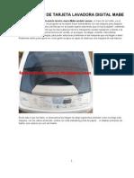 Reparacion de Tarjeta Lavadora Digital Mabe