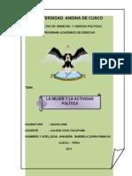 LA MUJER Y LA ACTIVIDAD POLÍTICA