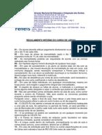Regimento Interno Do Curso de Libras - 2013 2 Semestre de 2013