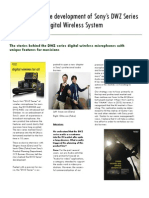 Voices behind the development of Sony's DWZ Series Digital Wireless System