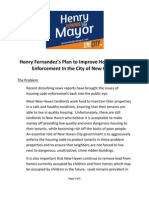Henry Fernandez's Plans to Improve Housing Code Enforcement in the City of New Haven