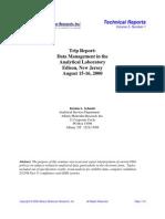 2000_Unknown_Trip Report Data Management in the Analytical Laboratory Edison , New Jersey_Schmitz
