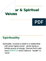 Secular & Spiritual Values