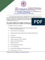 JNTU PHD 2008 2010 Guidelines