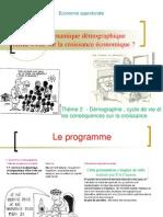 Thème 2 - Comment la dynamique démographique influe-t-elle sur la croissance économique 2013-2014