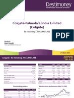 634995453625137780_Colgate Palmolive - Re-Iterate Accumulate Mar 21 2013