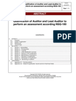 NSQ 100 Qualification of Auditor (June 2013)
