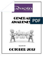 General Knowledge October 2012