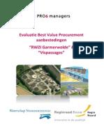 Evaluatie Best Value Procurement aanbestedingen RWZI Garmerwolde en Vispassages bij Waterschap Noorderzijlvest