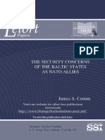 The Security Concerns of the Baltic States as NATO Allies