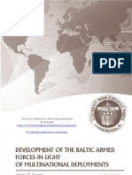 Development of the Baltic Armed Forces in Light of Multinational Deployments