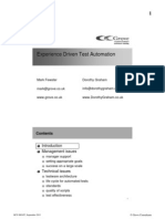 Experience Driven Test Automation