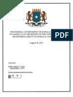 International Investigative Team Report Clears Somalia of UN Report Allegations