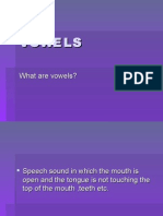 What are Vowels