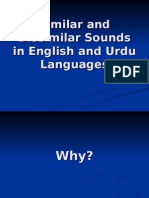 Similar and Dissimilar Sounds in English and Urdu