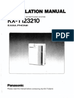 Panasonic KX-T123210 Installation & Programming