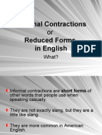 Informal Contractions Presentation