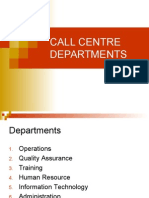 Call Centre Departments