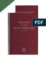 24719866 Escolios a Un Texto Implicito Nicolas Gomez Davila
