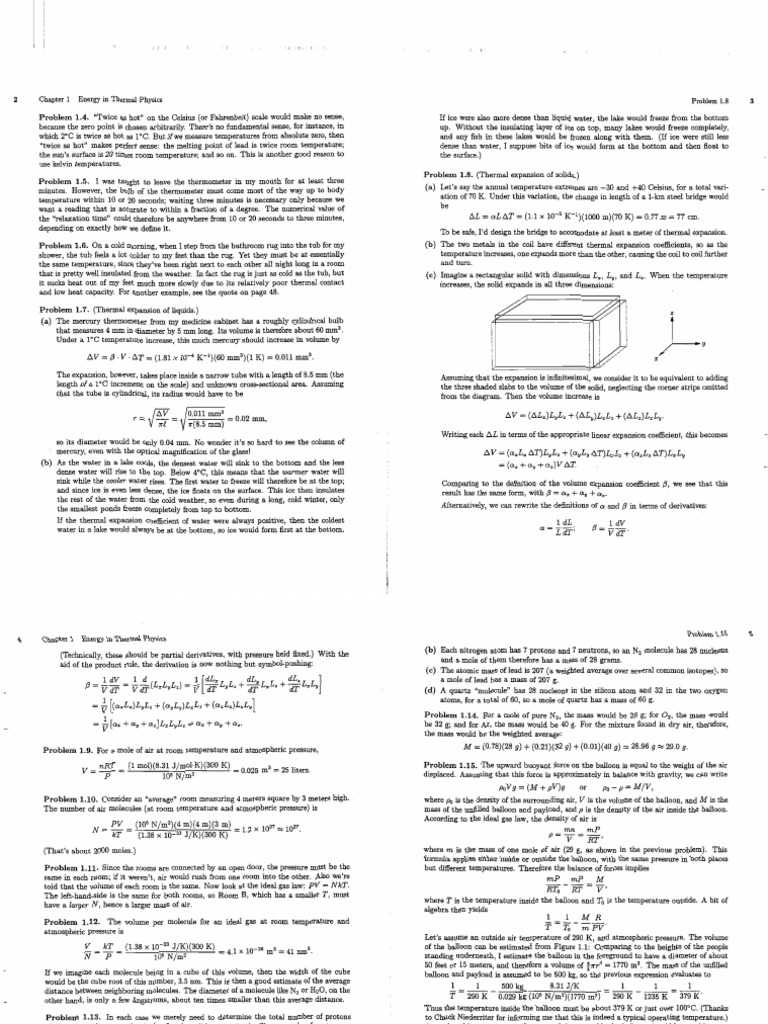 solutions schroeder thermal physics rh scribd com schroeder thermal physics solution manual pdf introduction to thermal physics schroeder solutions manual