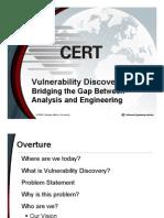 CERTCC Vulnerability Discovery