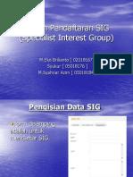 Sistem Pendaftaran SIG untuk teknik informatika