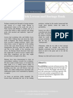 Case Study - Barings Bank and Nick Leeson