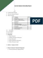 Format for Summer Internship Report