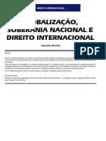 GLOBALIZAÇÃO, SOBERANIA NACIONAL E DIREITO INTERNACIONAL