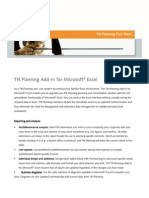 Fact Sheet Excel Add-In
