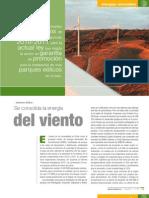 Energia eólica en Chile, revistaei, 2010
