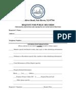 Fair Haven OPRA Request Form
