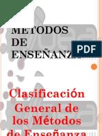 LOS MÉTODOS DE ENSEÑANZA -CONCEPTOS GENERALES-