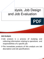 Job Analysis,Design n Evaluation TYBMS