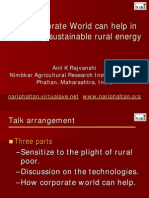 How Corporate World can help in developing sustainable rural energy