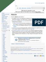 Ablación - Wikipedia, la enciclopedia libre