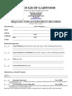 Garwood OPRA Request Form