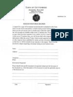 Guttenberg OPRA Request Form