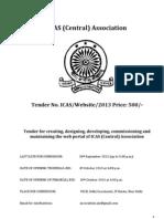 IAS Association Website Tender
