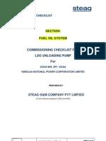 Checklist - LDO-UnLoading Pump