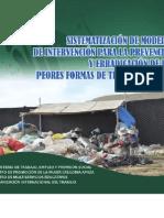 Sistematización de modelos de intervención para la prevención y erradicación de las peores formas de trabajo infantil