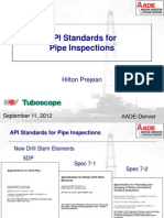 API Standards for Pipe Inspections