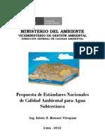 Proyecto Estándares Agua Subterránea