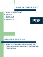 Surgical Safety Check List