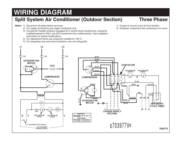 wiring diagram split system air conditioner electrical wiring Heating and AC Diagram