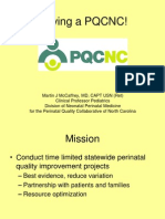PQCNC Patient Family Partnerships - History and Charge