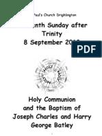 Fifteenth Sunday after Trinity