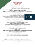 Program Festivalul Bucuriei 2013 Roma